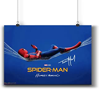 Pentagonwork Spider-Man Homecoming Movie Poster Casts Signed Reprint 11.7x16.5 A3 Prints w/Stickers 2017 Film, Tom Holland...