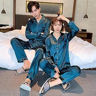 Gbrand Young Lover Pajamas Women Long-sleeved Spring Summer Pyjama Loose Men Couple Pijama Set Sleepwear Loungewear Nightw...