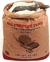 Honeyville All Purpose Flour Unbleached - Spring and Winter Wheat Patent Flour, Bulk 50 Pound Bag