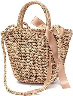 Straw Crossbody Handbag, JOSEKO Women Top Handle Handbag Summer Beach Purse Ladies Shoulder Bag