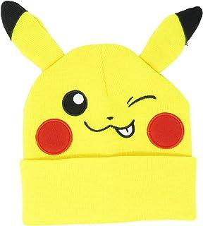 Bioworld Pokemon Pikachu Winking Embroidered Beanie Cap Hat One Size Licensed New Yellow