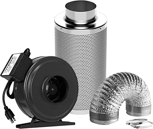 wholesale VIVOSUN Air Filtration Kit: outlet sale 4 Inch 203 CFM Inline discount Fan, 4'' Carbon Filter and 8 Feet of Ducting Combo outlet sale