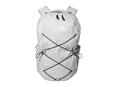 The North Face Jester Backpack (High-Rise Grey Light Heather/Scarab Green) Backpack Bags