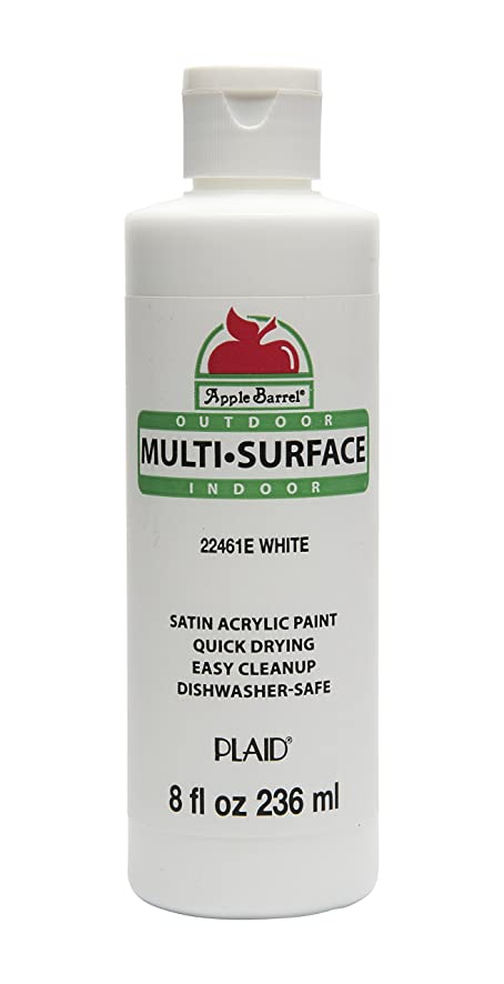 Apple Barrel Multi-Surface Paint in Assorted Colors (8 oz), 22461E White