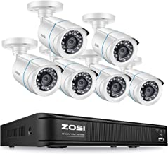 ZOSI Home Security Camera System Outdoor Indoor, 1080N CCTV DVR 8 Channel with 1080p Surveillance Camera 6 Pack, Remote Access, No Hard Drive