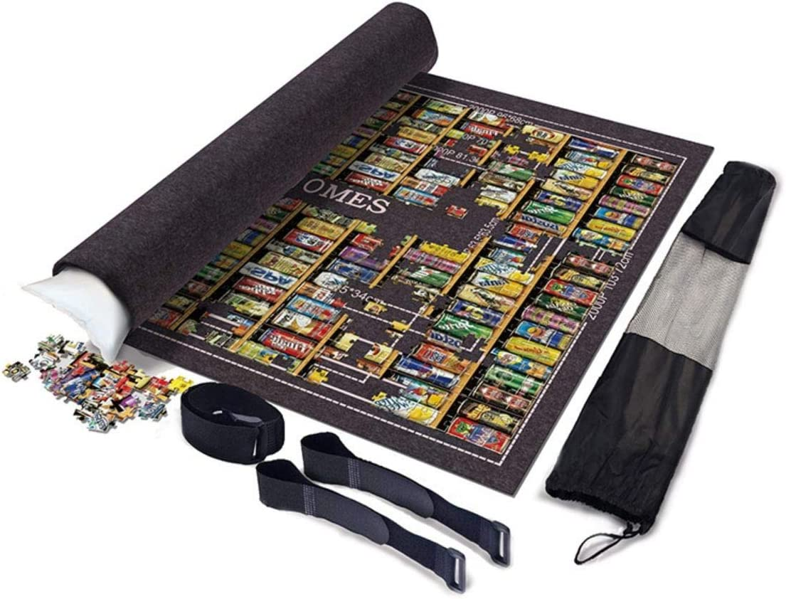 Thicken Popular product Large Puzzle Roll Be super welcome Jigsaw Storage with Felt Mat Fasteni 3