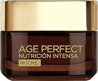 LOréal Paris Age Perfect Nutrición Intensa - Crema Rica Reparadora de Noche para Pieles Maduras y Desnutridas - 50 ml