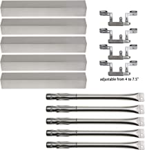 Hisencn Replacement Stainless Steel Grill Burner, Heat Plates, Crossover Tube for Gas Grill Brinkmann 810-1750-s, 810-1751-S, 810-3551-0 Gas Grill Parts Kit