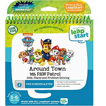 LeapFrog LeapStart 3D Around Town with PAW Patrol Book, Great Gift for Kids, Toddlers, Toy for Boys and Girls, Ages 3, 4, 5, 6