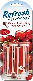 Refresh Your Car! E300909802 Auto Vent Stick, Very Cherry, 4 Per Pack