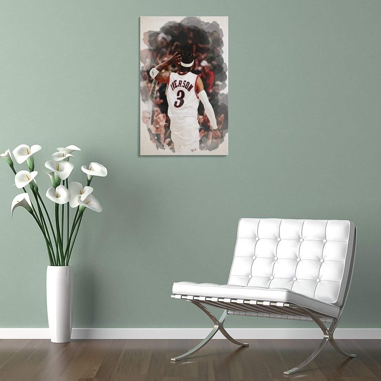 dormitorio 20 x 30 cm lienzo para sala de estar ZXCVW Allen Iverson P/óster decorativo de pared