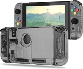 [Update Version] NS Joycon Handheld Controller Housing DIY Replacement Shell Case for Nintendo Switch Joy-Con (L/R) Without Electronics (Set-Smoke Black)