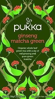 Pukka Herbs Ginseng Matcha Green Tea Bags, 20 Pieces (86066)