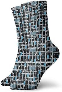 xinfub, Calcetines tobilleros Oboe Blues Casual Divertido para botas deportivas Senderismo Running Etc. Cómodo10485