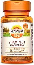 Sponsored Ad - Sundown Vitamin D3 1000 IU, Supports Immune, Bone and Teeth Health*, 200 Softgels Non-GMOˆ, Free of Gluten,...