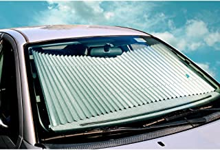 25 inch Universal Fit Retractable Auto Windshield Sunshade for Trucks, Most SUV
