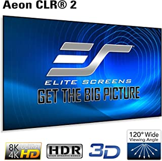 Elite Screens Aeon CLR 2 Series, 103-inch 16:9 Edge Free Ambient Light Rejecting Fixed Frame Projector Screen, Ceiling Light Rejecting Projection Material for Short/Ultra Short Throw UST, AR103H-CLR2