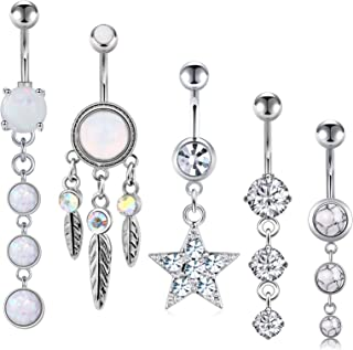 Details about  /1PC  Belly button ring S925 sterling silver  crystal body piercing punk jewelry