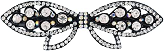 Archi Collection Crystal Stone Bow Hair Back Clip Pin Barrette Buckle Clutcher for Women Girls