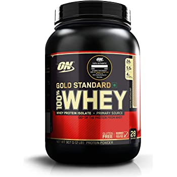 Optimum Nutrition (ON) Gold Standard 100% Whey Protein Powder - 2 lbs, 907 g (Mocha Cappuccino), Primary Source Isolate
