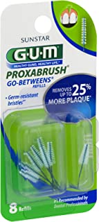 GUM Go-Betweens Proxabrush Refills Tight - 8 ct, Pack of 3