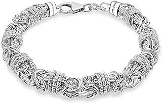 Tuscany 纯银粗糙拜佐宁和戒指 长度 21 厘米 21 厘米