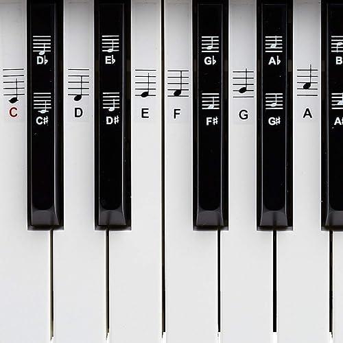 Belfort Piano Clavier Piano notes autocollants pour Noir et Blanc touches, C de d cours de Crash de f G de A électron...