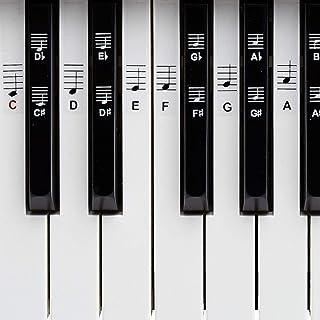 BELFORT® naklejki na klawisze pianina + keyboard na 49, 61, 76, 88 klawiszy + ebook, naklejki na pianino kompletny zestaw ...