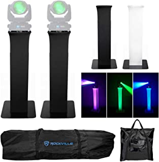2) Totem Stands+Black+White Scrims For (2) Marq Gesture Beam 400 Lights