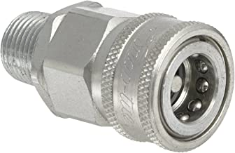 """Snap-Tite VHC8-8M Zinc-Plated Steel H-Shape Quick-Disconnect Hose Coupling, Sleeve-Lock Socket, 1/2"""" NPTF Male x 1/2"""" Coupling Size"""