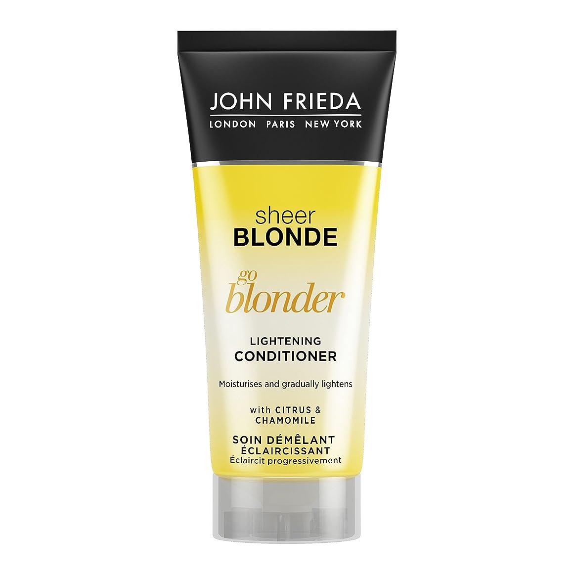 終了しました非常に怒っています地下室John Frieda Sheer Blonde Go Blonder Lightening Conditioner Travel Size 50ml