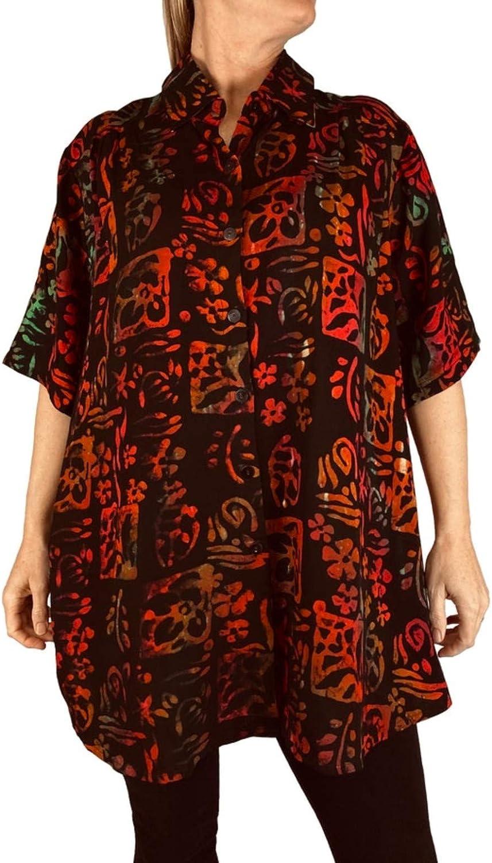 Women's Plus Size Tunic - Lani by WeBeBop 0X 1X 2X 3X 4X 5X 6X