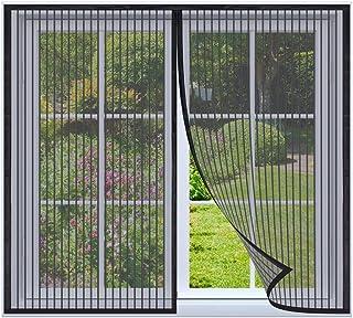 Magnetische vliegengaas voor ramen 100x115cm Zwart Magnetische insectengaas hordeur, magnetisch Vliegengordijn, insectenho...