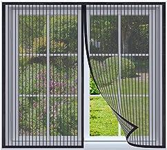 Magnetische vliegengaas voor ramen 160x160cm Zwart Magnetische insectengaas hordeur, magnetisch Vliegengordijn, insectenho...