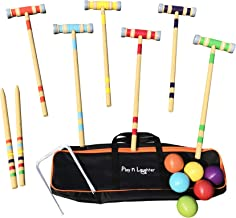 Play N Laughter 6 Player Croquet Set with Carrying Bag - 26