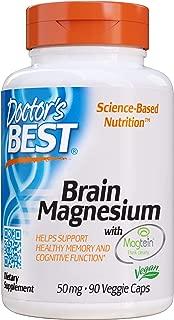 Doctor's Best Brain Magnesium, Non-GMO, Vegan, Gluten Free, Soy Free 50 mg, 90 Veggie Caps