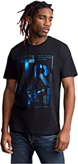 Men's TR Metallic Foil Tee T-Shirts in Black