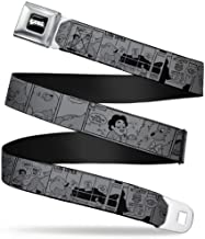 Buckle-Down Seatbelt Belt - Steven Universe PET CONTEST/LION TAMER Comic Strip White/Black - 1.5