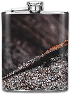 Utensilios de bar Artículos y equipo de servicio para la restauración Gxdchfj Steel Stainless Flask,Animal Riding Bicycle Leather Pocket Funnel with Screw Top,Liquor Alcohol Whiskey Classic Hip for Men,7 OZ