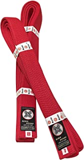 Ronin Deluxe Cotton Red Belt - Masters Belt for Karate, Tae Kwon Do, Judo, Jiu-Jitsu Martial Arts