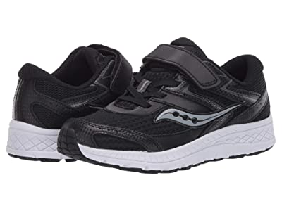 Saucony Kids S-Cohesion 13 A/C (Little Kid/Big Kid) (Black Leather/Mesh) Boys Shoes