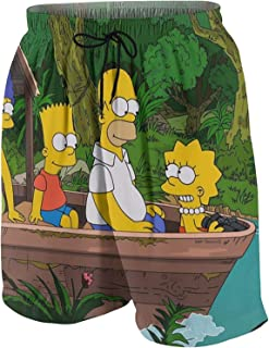 MPY-SEA The Simpsons Cartoon The Simpsons Men's Swimming Trunks Quick Drying Casual Beach Shorts