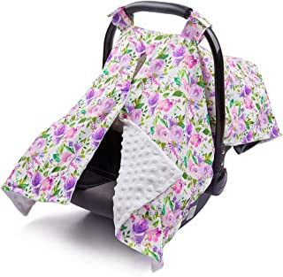 MHJY Carseat Canopy Cover Nursing Cover Breathable Baby Car Seat Canopy Floral Flower..