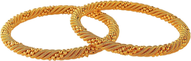 Efulgenz Boho Vintage Antique Ethnic Gypsy Tribal Indian Oxidized Twisted Bracelet Bangles Set Jewelry (2 pc)
