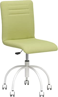 Silla de oficina de diseño Verde Pastel. Asiento giratorio de 360 ° . Altura ajustable