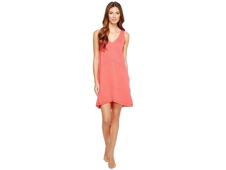 Lilla P Ribbed Bottom Dress (Geranium) Women