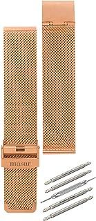 Masar 14 à 22mm Universel Bracelet de Montre en Maille Milanaise - 4 Barrettes à Ressort 1 Outil