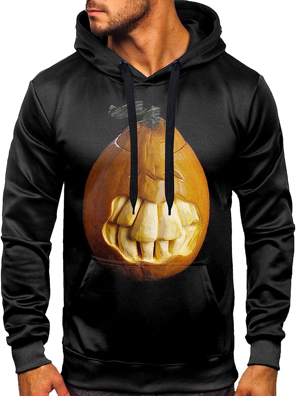 Aayomet Halloween Shirts for Men Printed Pullover Kanga Pocket Slim Hooded Tops Fashion Outwear Hoodies