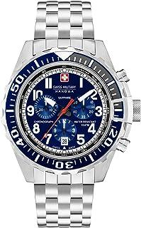 Swiss Military - Reloj Cronógrafo para Hombre de Cuarzo con Correa en Acero Inoxidable 06-5304.04.003