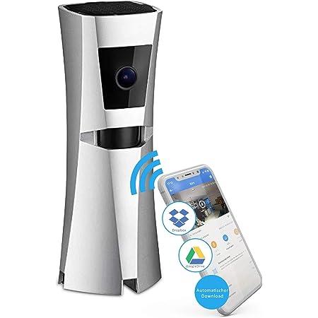 Sens8 Kabellose Überwachungskamera Innen Mit Wlan Und Sirene Als Alarm Zimmerkamera Speichert Direkt In Ihre Cloud Ohne Speicherkarte Und Ohne Gebühren Mit Nachtsicht Und Bewegungsmelder Baumarkt